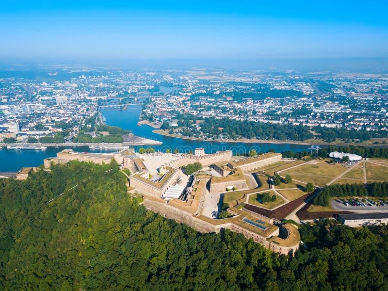 Forteresse d'Ehrenbreitstein à Koblenz, Allemagne photo libre de droits