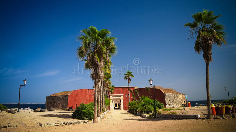 Forteresse d'esclavage sur l'île de Goree, Dakar, Sénégal photographie stock libre de droits