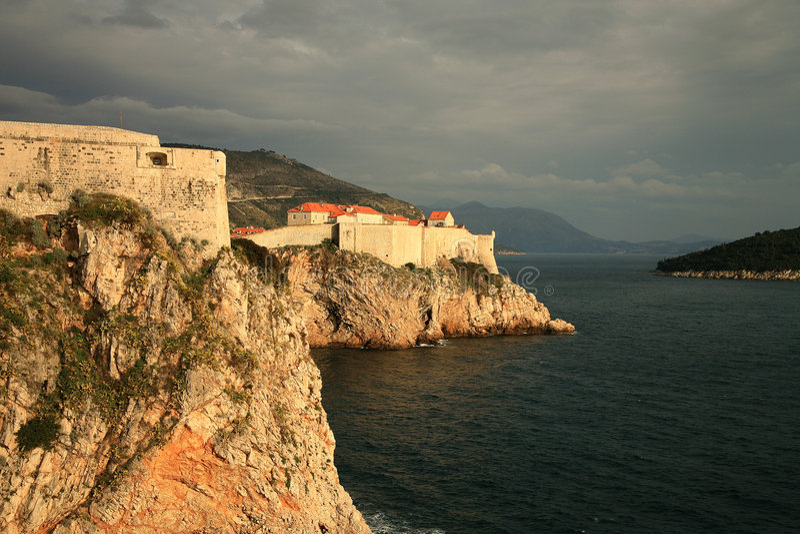 Forteresse dans Dubrovnik photographie stock