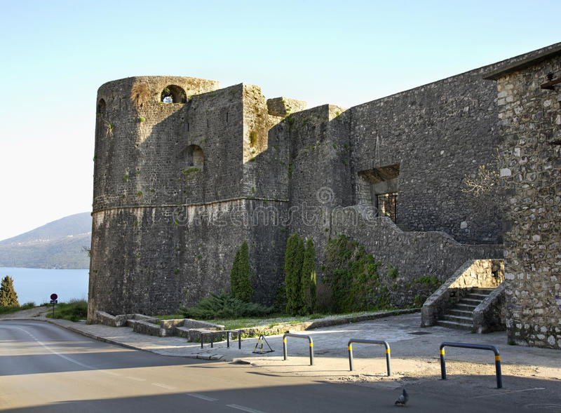 Forteresse dans Herceg Novi montenegro photos stock