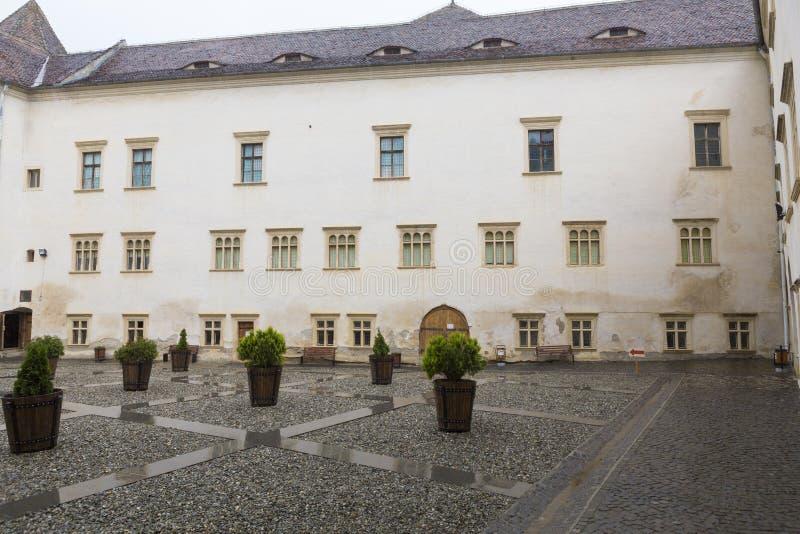 Forteresse de Fagaras - yard intérieur photo libre de droits