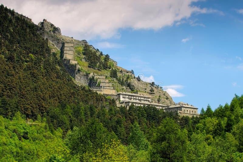 Forteresse de Fenestrelle en Italie, Alpes image libre de droits