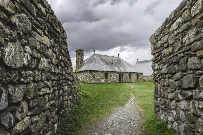 Forteresse de Louisbourg, Canada, 15,2017 : Vieux fort reconstruit en Nova Scotia image stock