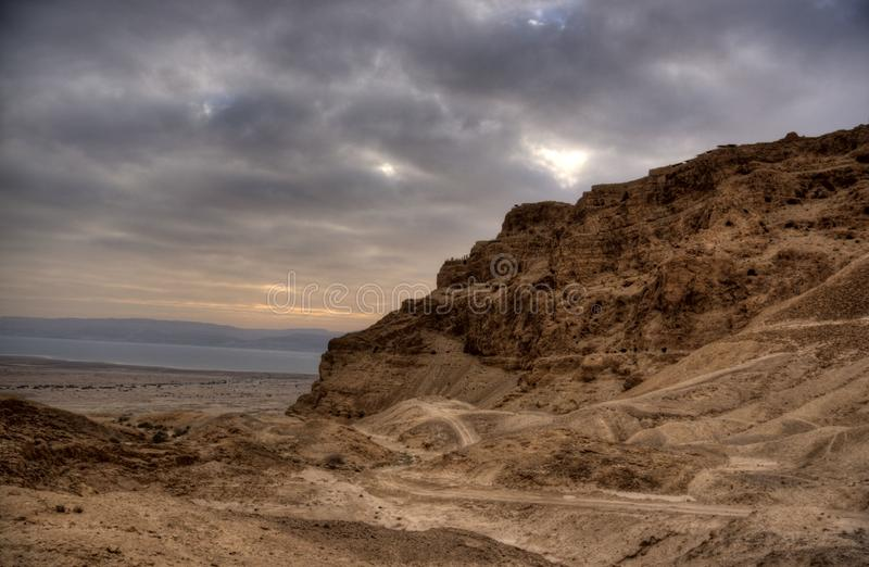 Forteresse de Masada image stock