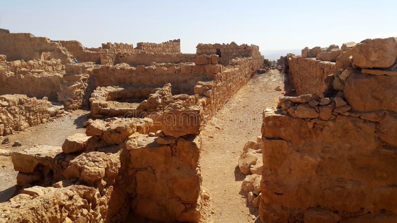 Forteresse de Masada Désert de Judean photographie stock