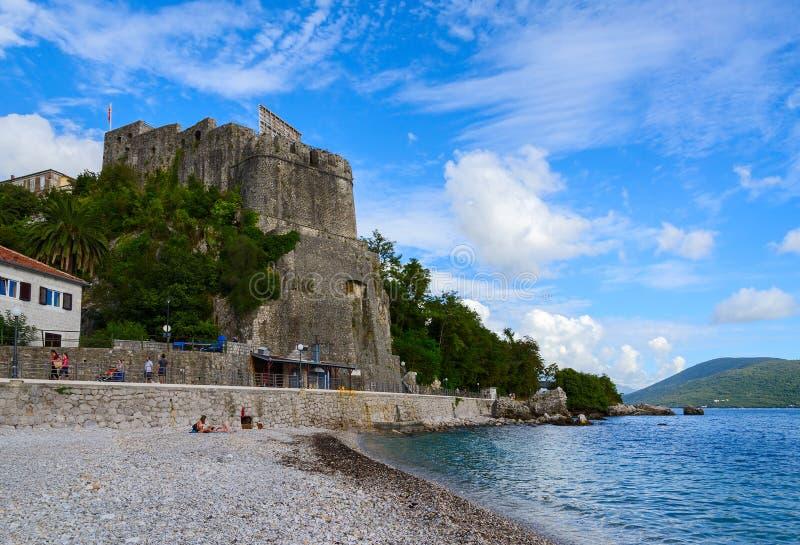 Forteresse de mer (jument de forte), Herceg Novi, Monténégro images stock
