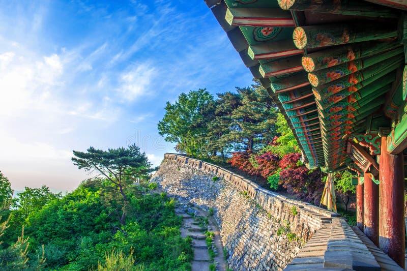 Forteresse de Namhansanseong en Corée du Sud photographie stock