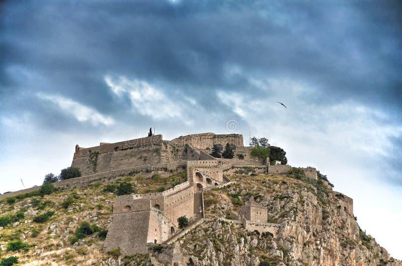 Forteresse de Palamidi sur la colline photographie stock libre de droits