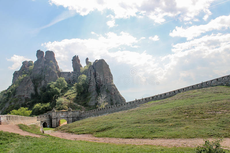 Forteresse de roche de Belogradchik/skali de Belogradchishki photos libres de droits