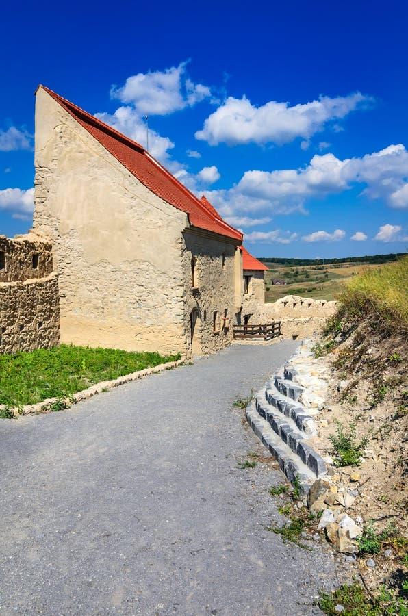 Forteresse de Rupea, la Transylvanie, Roumanie image stock