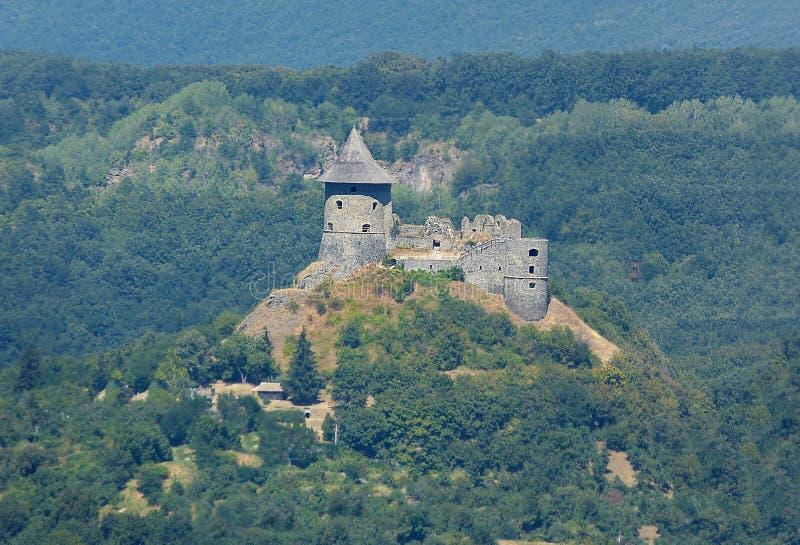 Forteresse de Salgo en Hongrie photos libres de droits