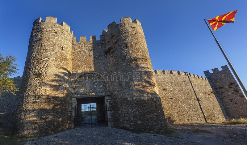 Forteresse de Samuils dans Ohrid photographie stock