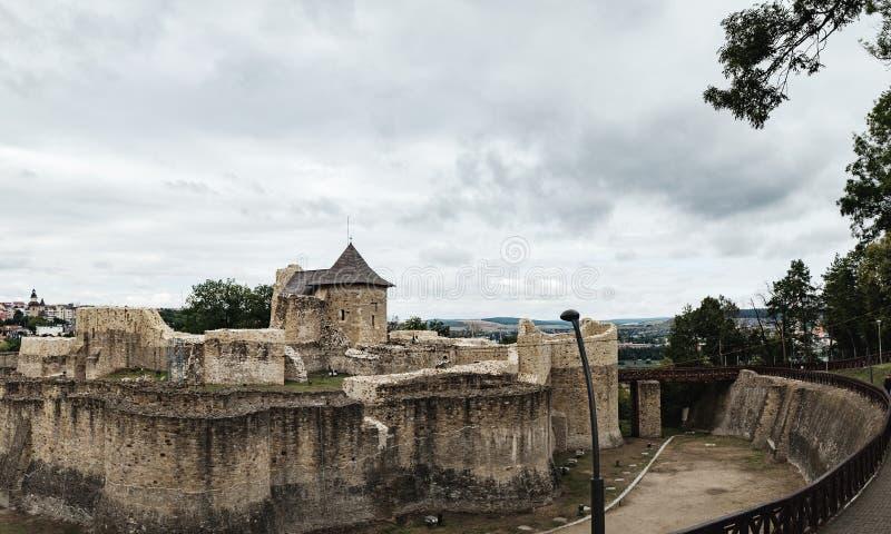 Forteresse de Seat de Suceava en Roumanie images stock