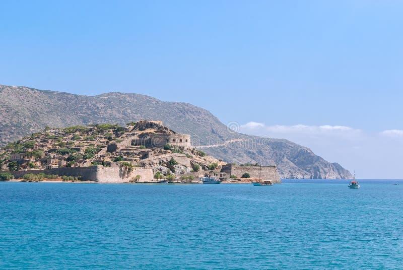 Forteresse de Spinalonga en Crète photo libre de droits
