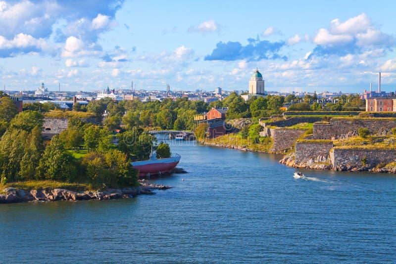 Forteresse de Suomenlinna à Helsinki, Finlande images libres de droits