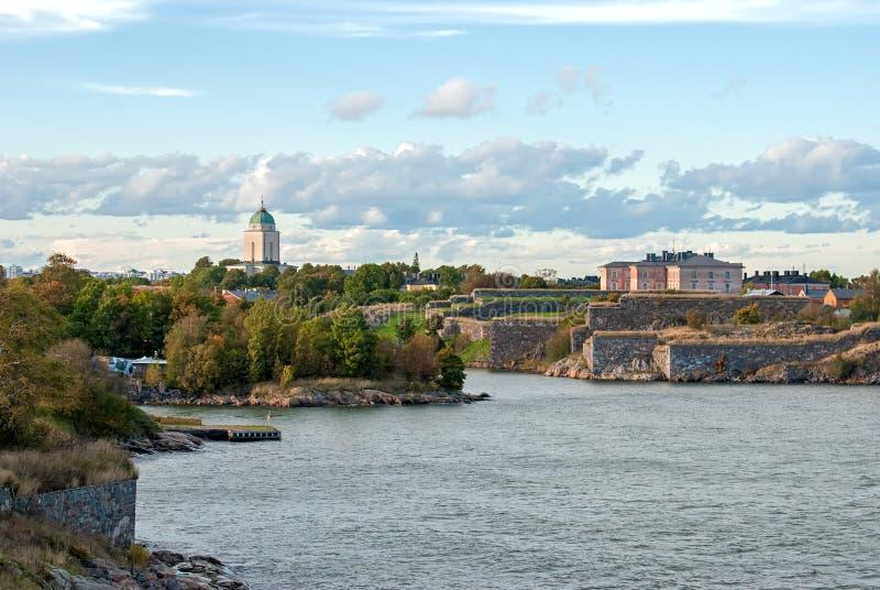Forteresse de Suomenlinna. Helsinki. La Finlande. image libre de droits