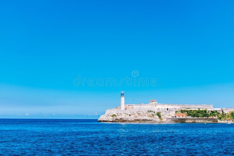 Forteresse et phare de château d'EL Morro à La Havane image stock