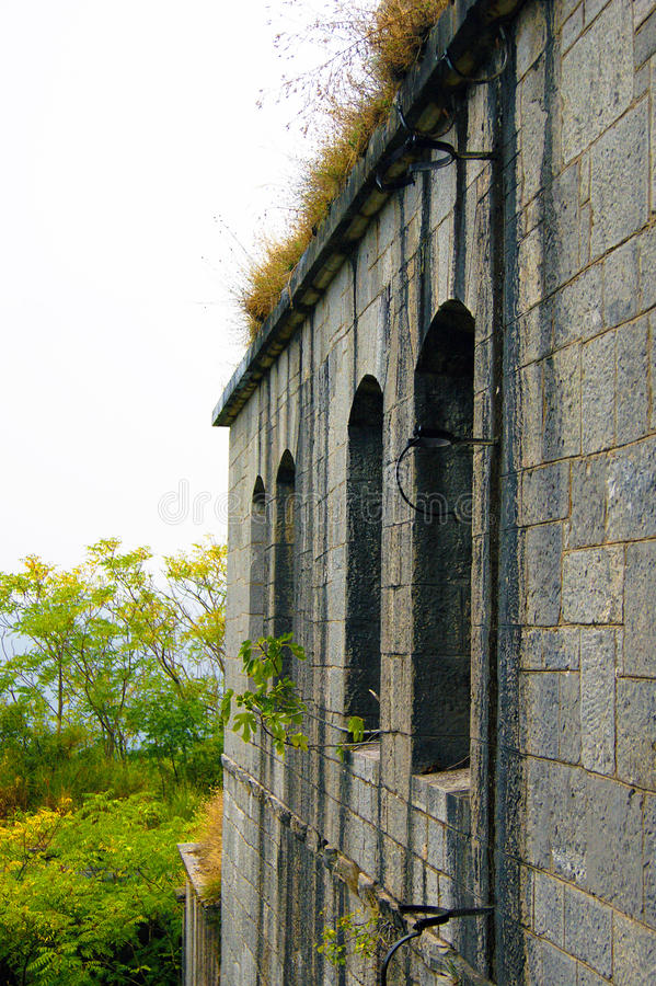 Forteresse Gorazda de mur photographie stock