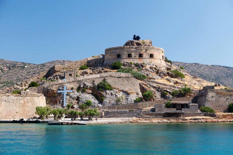 Forteresse Grèce de Crète Spinalonga photographie stock