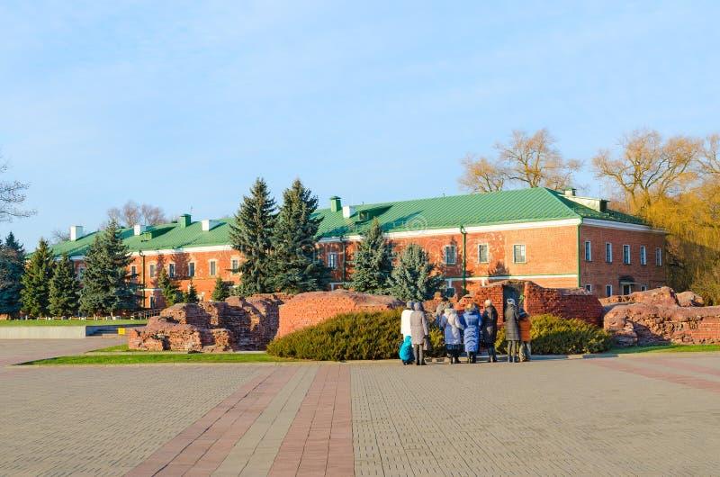 Forteresse-héros complexe commémoratif de Brest Musée de la défense de la forteresse de Brest, Belarus images libres de droits