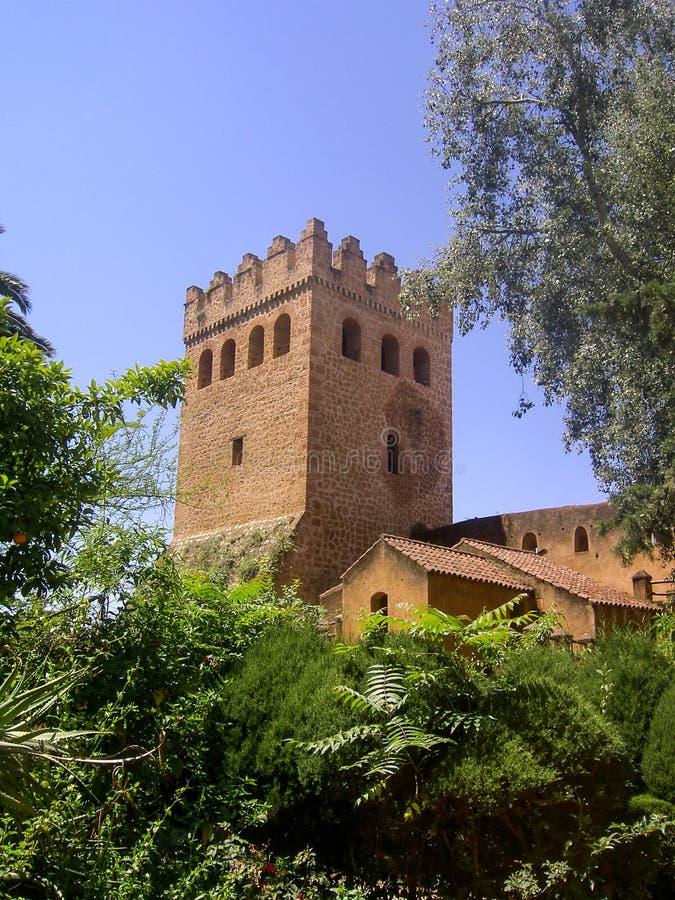 Forteresse historique du Maroc de monument de Chaouen images libres de droits