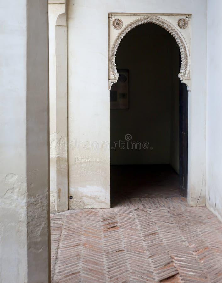 Forteresse intérieure d'Alcazaba image libre de droits