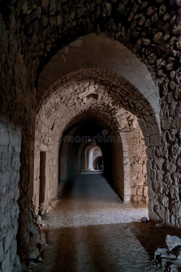 Forteresse Jordanie de château de croisé de kerak d'Al Karak image libre de droits