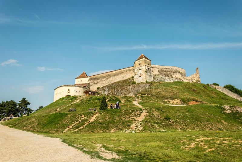 Forteresse médiévale Rasnov de Saxon Transylvanie, Roumanie photo libre de droits