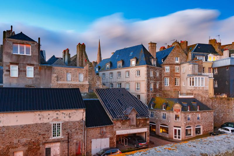 Forteresse m?di?vale Saint Malo, la Bretagne, France photographie stock libre de droits