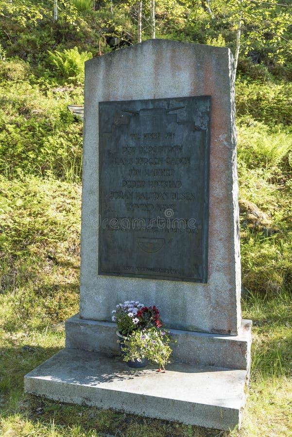 Forteresse Norvège de Hegra de mémorial de guerre images stock