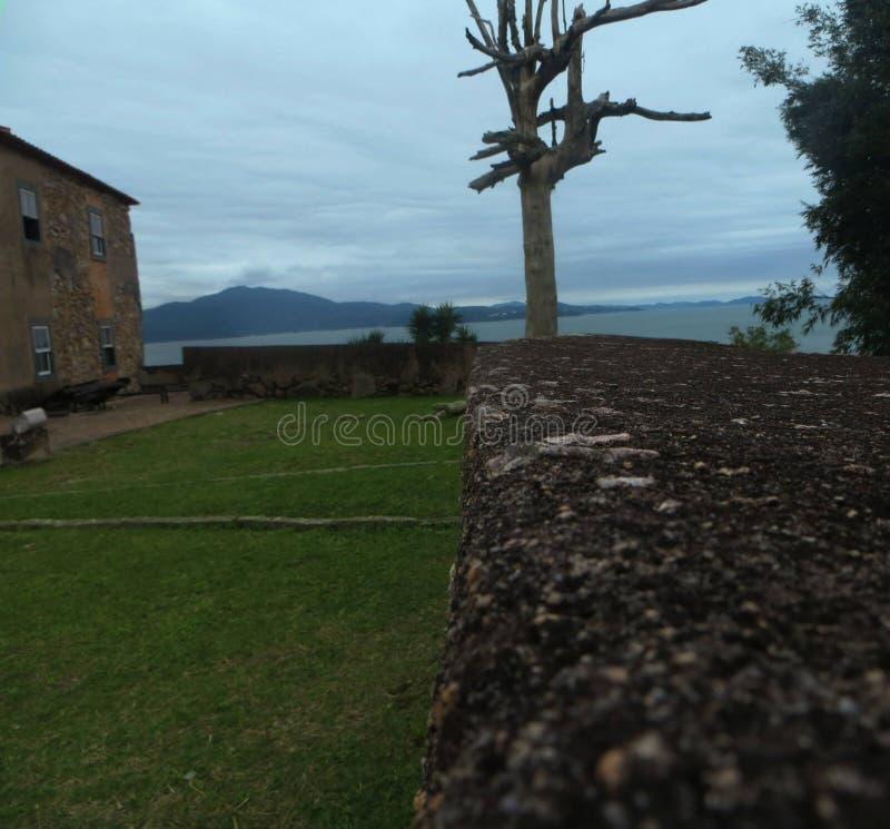 Forteresse, plage de forte, Sc Brésil photo stock