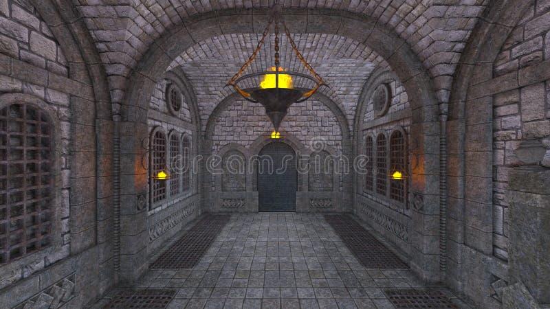 Forteresse souterraine illustration de vecteur