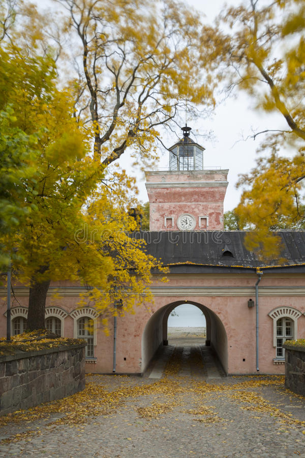 Forteresse Suomenlinna de mer de Helsinki photographie stock libre de droits