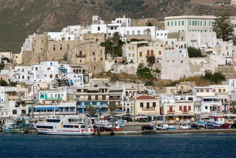 Forteresse vénitienne dans Naxos, îles de Cyclades photos libres de droits