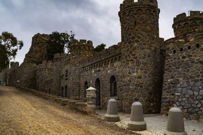 Forteresses et châteaux de la côte de Carthagène photo stock
