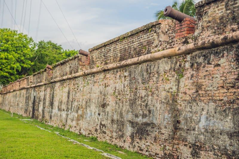 Fortet Cornwallis i Georgetown, Penang, är ett stjärnafort som byggs av Britten Öst Indien Företag i det sena 18th århundradet, d royaltyfri fotografi