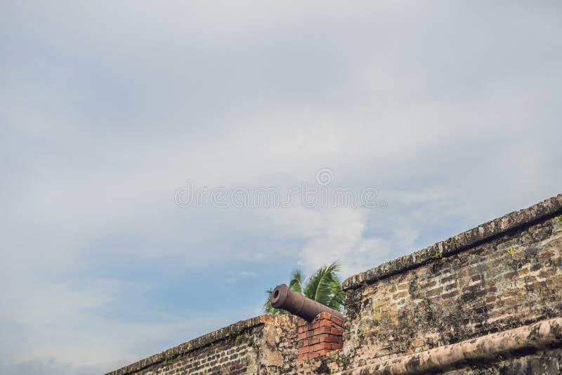 Fortet Cornwallis i Georgetown, Penang, är ett stjärnafort som byggs av Britten Öst Indien Företag i det sena 18th århundradet, d arkivbilder