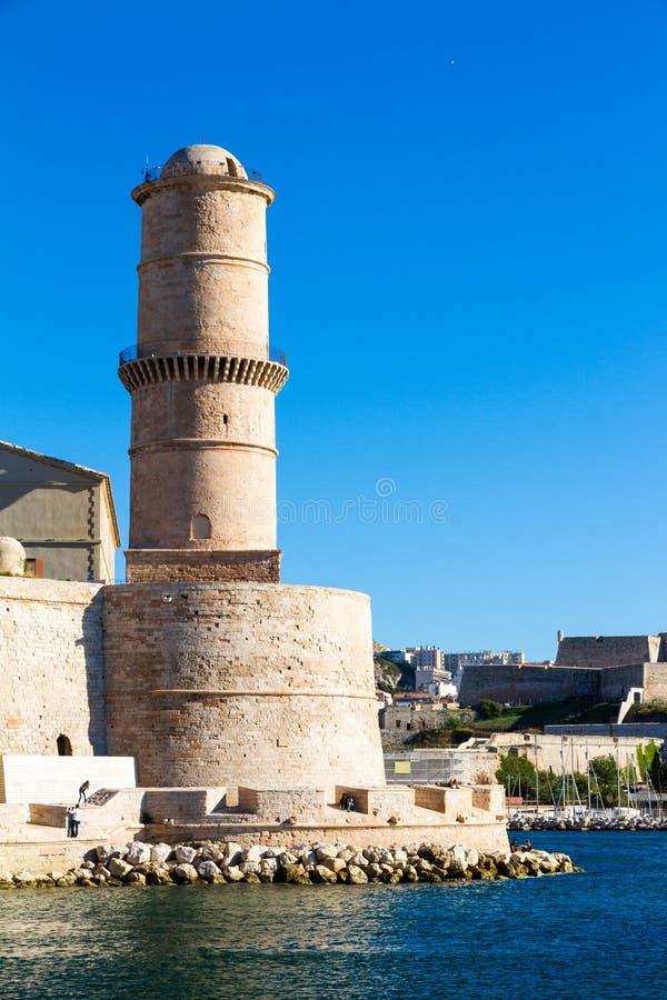 Fortet Helgon-Jean är en befästning i Marseille arkivfoton