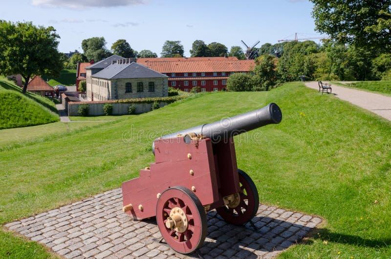 Fortezza antica danese Kastellet fotografia stock