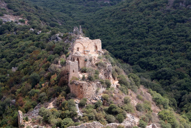 Fortezza antica Montfort fotografia stock