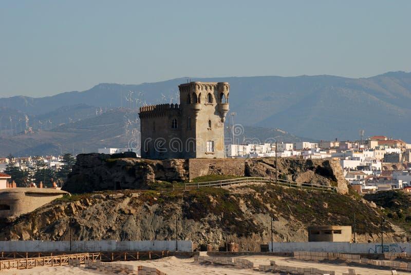 Fortezza antica a Tarifa fotografia stock