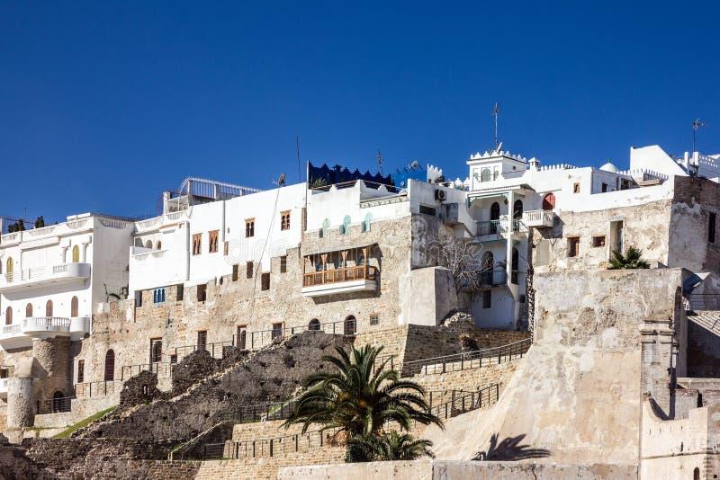 Fortezza antica in vecchia città Tangeri, Marocco, Medina fotografia stock