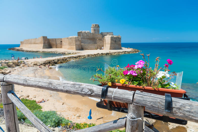 Fortezza Aragonese, Le Castella -卡拉布里亚-意大利 免版税库存图片