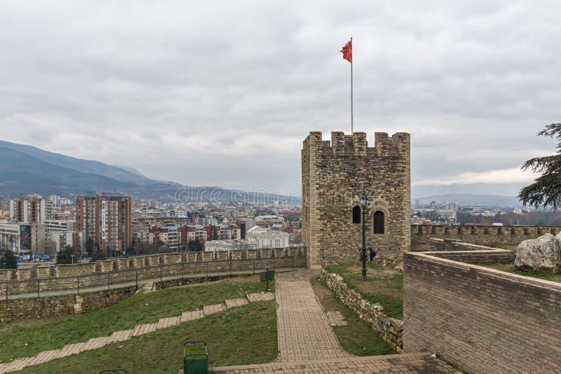Fortezza in Città Vecchia, Repubblica Macedone del cavolo della fortezza di Skopje immagine stock libera da diritti