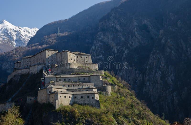 Fortezza del bardo - la valle d'Aosta - Italia fotografie stock