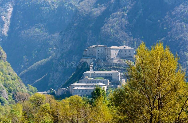 Fortezza del bardo - la valle d'Aosta - Italia fotografia stock libera da diritti