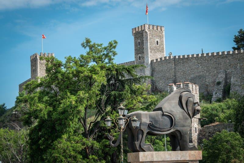 Fortezza del cavolo, Skopje, Repubblica Macedone fotografia stock