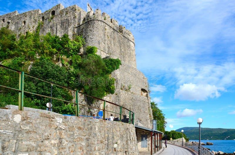 Fortezza del mare (giumenta) di proprio forte, Castelnuovo, Montenegro fotografia stock