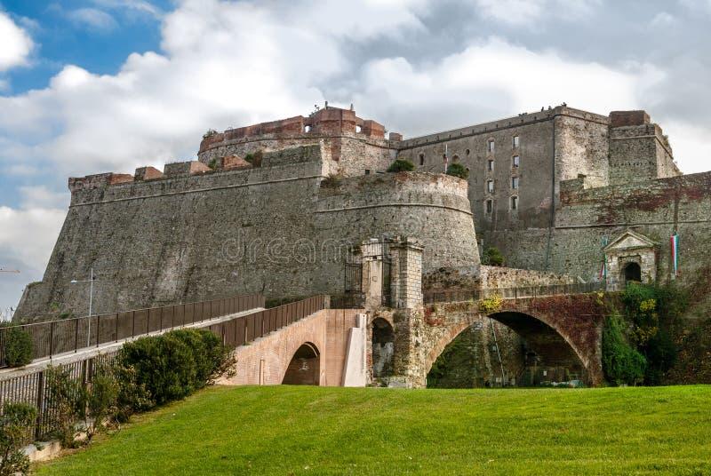 Fortezza del Priamar, Savona, Itália imagem de stock