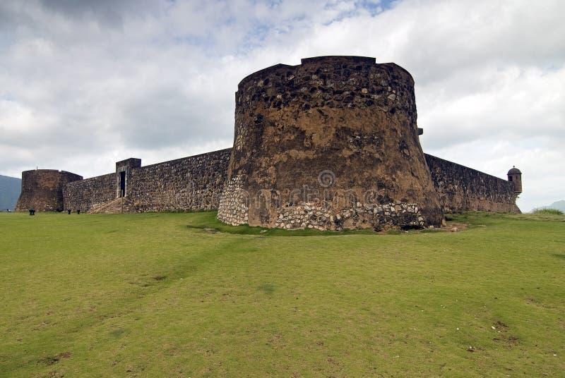 Fortezza del San Felipe, rappresentante domenicano. fotografie stock libere da diritti